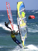 Windsurfer in Lanzarote. Photo by Lanzarote Tourist Board